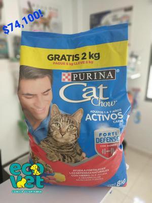 Bulto concentrado promoción pague 6 lleve 8 kilos cat chow