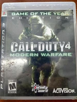 Juego Call of Duty 4 Modern Warfare PS3 Original