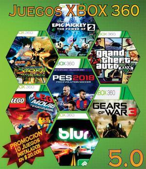 Se instalan juegos para xbox 360 en 5.0