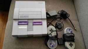 Promo Super Nintendo Y Dos Controles