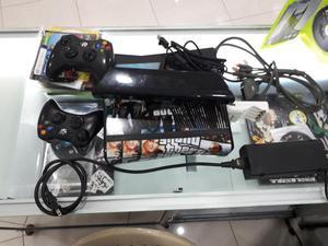 xbox 360 slim  personalizada 2 controles, kinect,