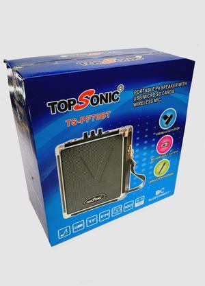 Parlante Topsonic Bluetooth Tspf70bt Microfono Inhalambrico