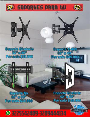 Venta e instalación de soportes y bases para tv