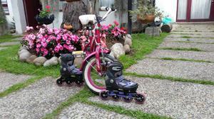 Bicicleta Niña Y Patines