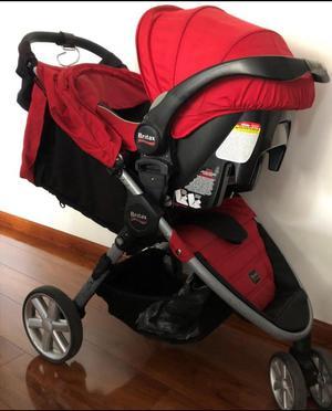 Coche Britax Rojo con Silla para Bebe