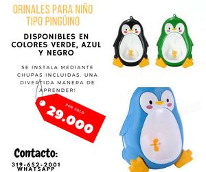 ORINAL PARA NIÑO TIPO PINGÜINO