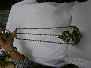 LAMPARA DE VELA EN BRONCE CRISTAL REDONDA DECORADA ÁNGELES
