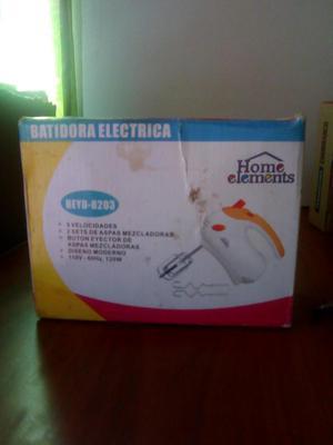 Batidora ELECTRICA HOME ELEMENT BLANCO Y AMARILLO
