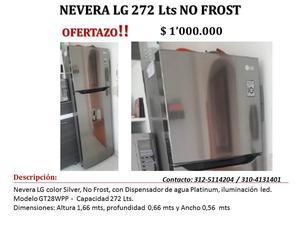 GRAN OFERTA NEVERA LG 272 Lts NO FROST