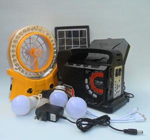 kit de luces panel solar y ventilador