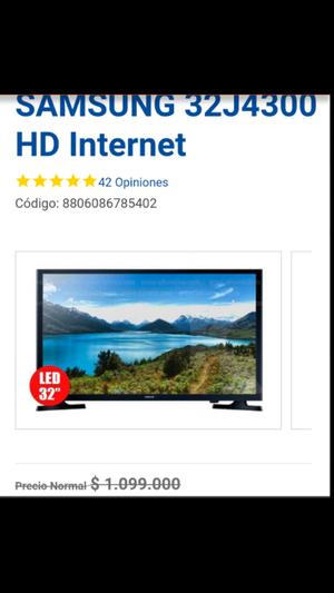 OFERTA TV Led 32 Samsung HD Smart TV UN32J Nuevos con