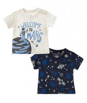 Set X 2 Camisetas Manga Corta Para Bebé Niño Offcorss