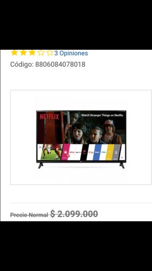 TV LED LG 43 FHD Smart Tv Nuevo con garantía 1