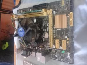 Combo Board Asus H81MA 4 Generacion 4gb de RAM ddr3
