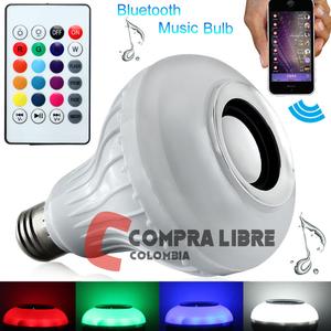 Parlante/bafle bluetooth bombillo LED