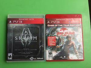 Dead Island Y Skyrim Vídeo Juegos Ps3