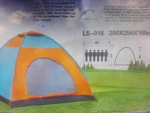REF:  Carpa Camping Para 4 Personas Facil Armar Acampa