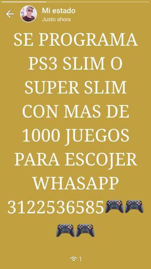 Se Programa Ps3 Slim O Super Slim Leer D