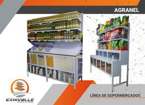 Gondolas, estanterias y fruver para supermercados
