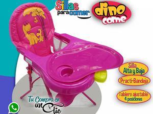 Comedor de Bebé Es Silla Alta y Baja, Tablero Ajustable,