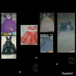 Lote Vestidos Niña Talla 1 Y 2