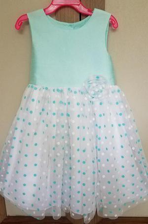 Vestido Elegante para Niña Talla 5 Marca