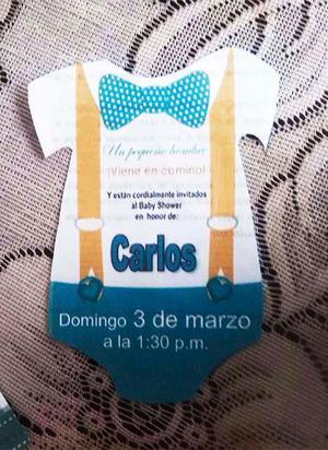 Invitacion Baby Shower Bautizo 1 Comunion Posot Class