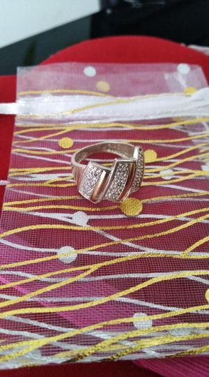 Anillo Talla 6 Y 7 Plata, Oro Y Circones