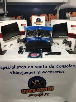 Consola PS3 Slim 250 gb juegos digitales con 2 controles