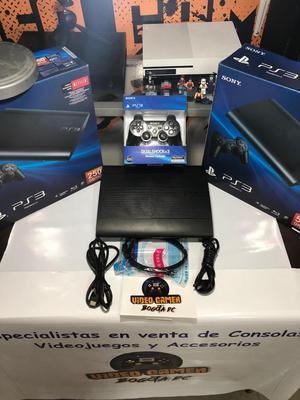 Consola PS3 Ultra Slim 250 Gb 1 Control Paquete de Juegos