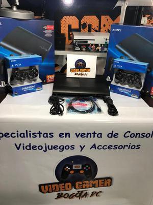 Consola Ps3 Ultra Slim 250 Gb 2 Controles Paquete Juegos