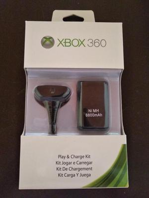 Pila Y Cargador de Control Xbox 360