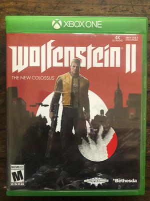 Wolfesntein 2 para Xbox One Como Nueva