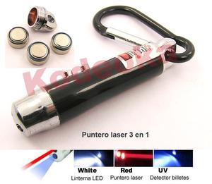 puntero Laser llavero 3 modos de luz colores surtidos 3