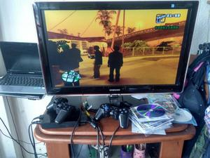PS2, 2 CONTROLES, MEMORY, 25 JUEGOS.