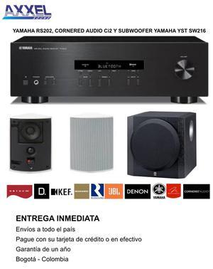Combo Yamaha Rs202, Parlantes Y Subwoofe