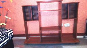 Mueble para Tv y Sonido, obsequio revistero en madera y 4