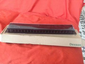 Organizador Cables Rack 60 X 40 Con Tapa Dexson