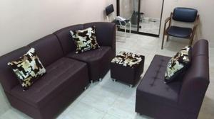 Sala Media Luna cuero sintético Cojines