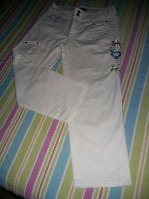 Vendo Pantalón Blanco Usado