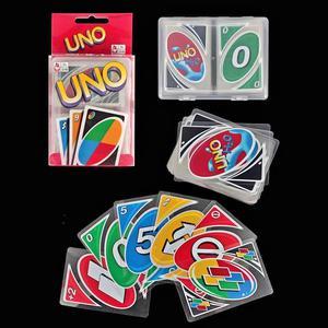 juego de cartas UNO aqua cartas a prueba de agua y derrames