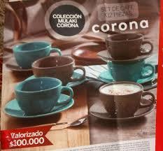 SET DE CAFE VAJILLAS CORONA COLECCION MULAKI