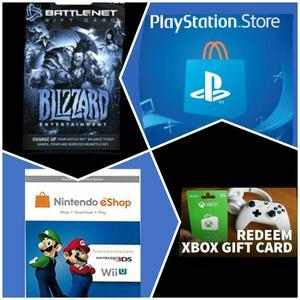 Codigo Gift Card Nintendo Xbox Psn PlayStation