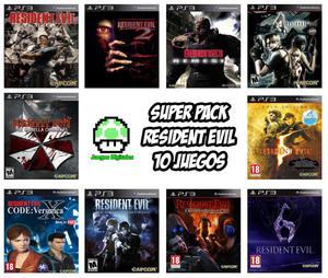 Combo 10x1 Super Pack Resident Evil Ps3
