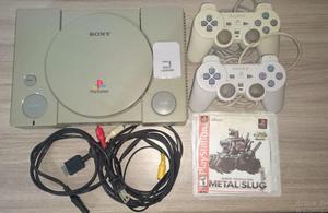 Playstation One Ps1 Con Dos Controles, Memoria Y 9 Juegos