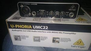 Vendo: Behringer UPhoria UMC22 Interfaz de Audio USB