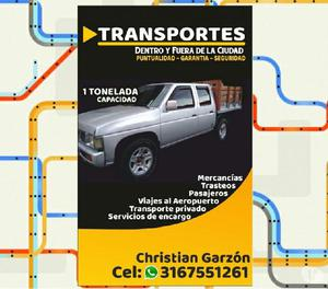 Servicio transporte camioneta doble cabina