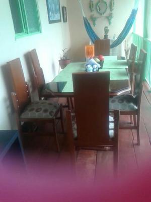 Comedor con 5 sillas madera tallada para tapizar | Posot Class