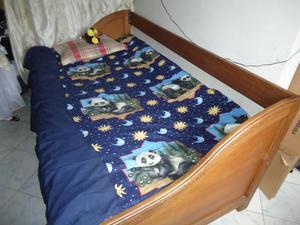 ven cambio cama en roble con tarima