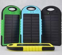 Cargador Solar Portatil Power Bank De  Mah